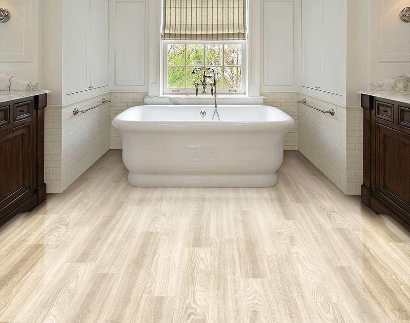 кварцвиниловая плитка в ванной