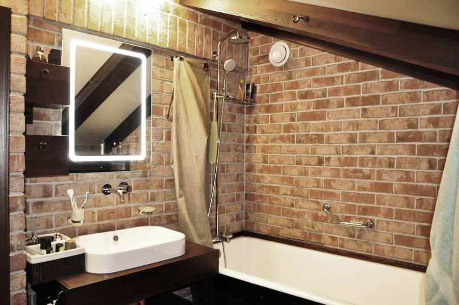 плитка клинкер в ванной