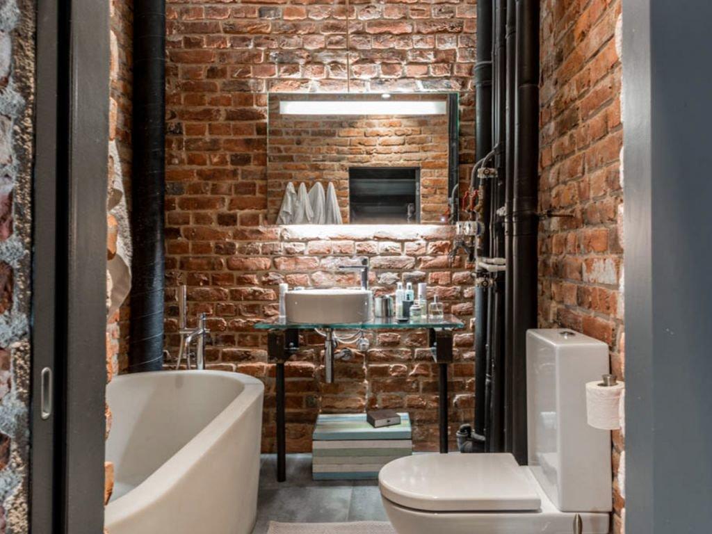клинкерная плитка в ванной