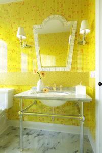 Желтые оттенки плитки-мозаики