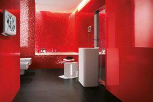 Красная плитка-мозаика